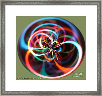 Circle Of Color Framed Print by Mary  King