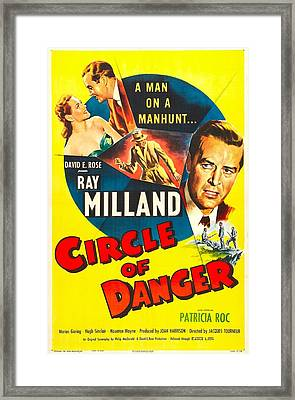 Circle Of Danger, British  Poster Framed Print