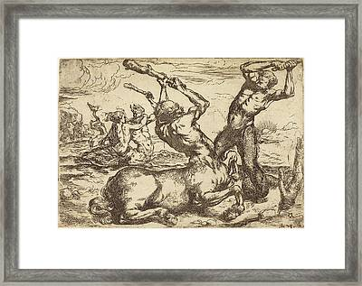 Circle Of Jusepe De Ribera Spanish, 1591 - 1652 Framed Print by Quint Lox