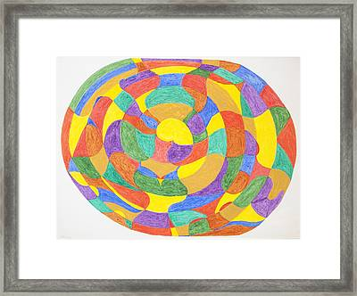 Framed Print featuring the painting Life Cycles by Stormm Bradshaw
