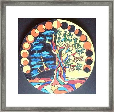 Circle Of Life Framed Print by Swati Panchal