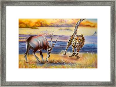 Circle Of Life Framed Print by Andrea Pischel