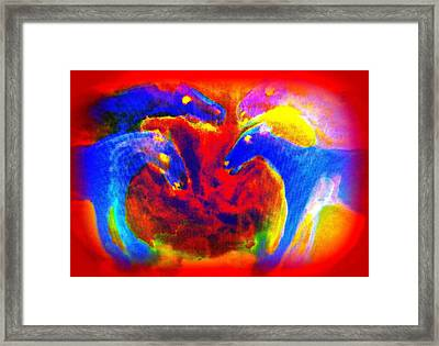 Living In A Circle Of Burning Hot Love Framed Print