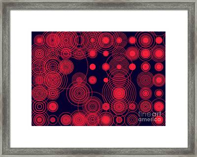 Framed Print featuring the digital art Circle Of Love by Ilona Svetluska