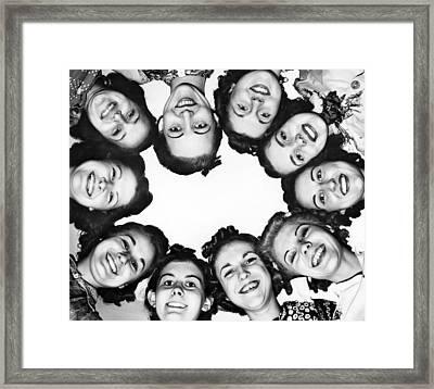Circle Of Majorettes Framed Print