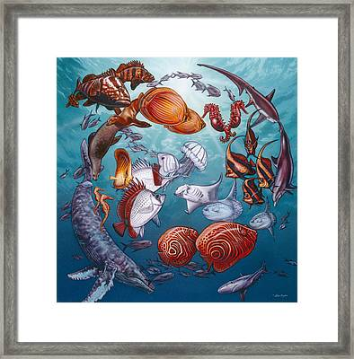 Circle Of Ocean Life Framed Print by Larry Taugher