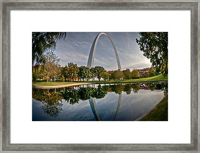 Framed Print featuring the photograph Circle Of Reflection by Deborah Klubertanz