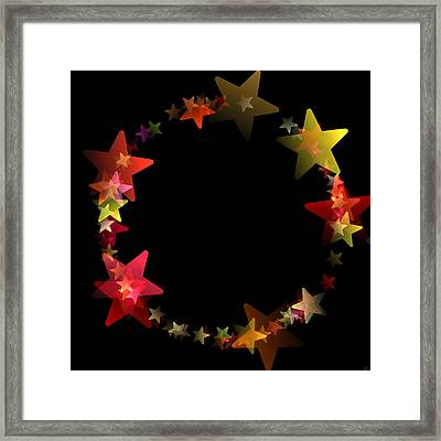 Circle Of Stars Framed Print by Daniel Hagerman