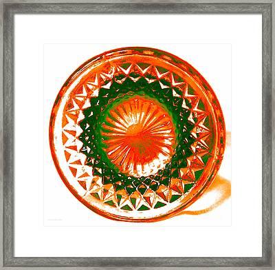 Circle Orange Framed Print by Anita Lewis