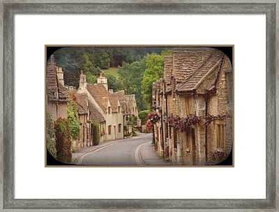 Circle Road Framed Print by Tracie Howard