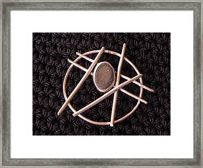 Circle Stone Framed Print