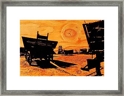Circle The Wagons Framed Print by Mike Flynn