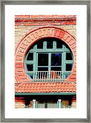 Circle Window Framed Print by Suzanne Barber