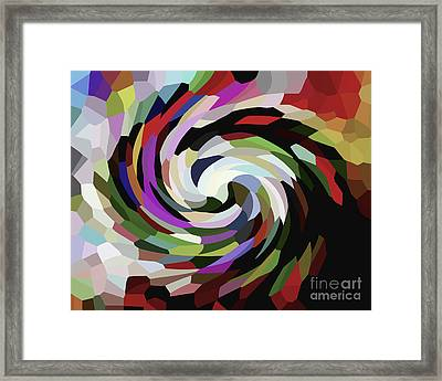 Circled Car Framed Print