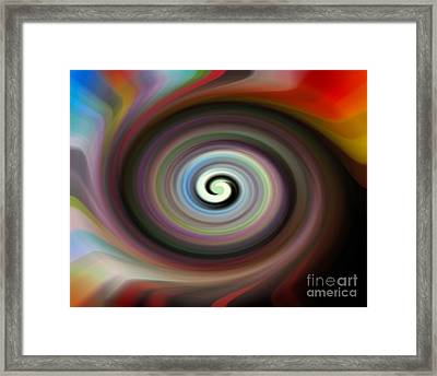 Circled Carma Framed Print