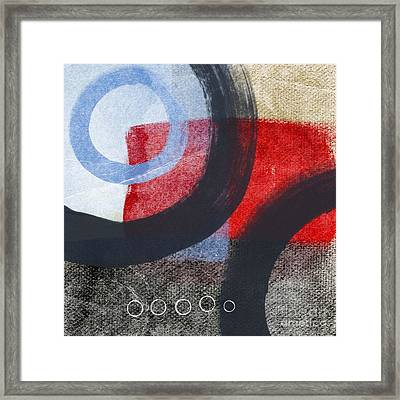 Circles 1 Framed Print by Linda Woods