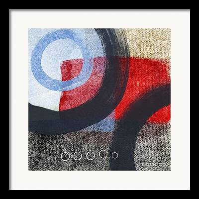 Abstract Geometric Mixed Media Framed Prints