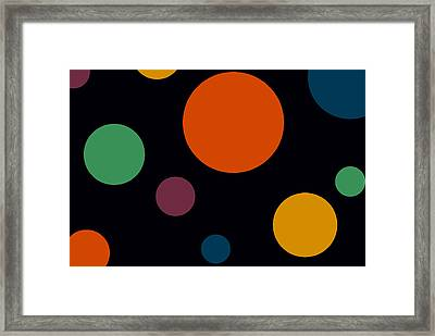 Circles 2 Framed Print by Chastity Hoff