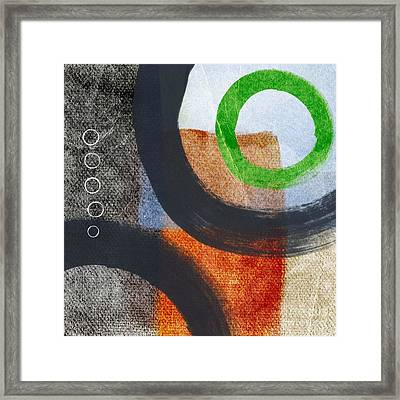 Circles 2 Framed Print by Linda Woods