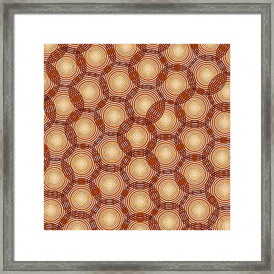 Circles Abstract Framed Print by Frank Tschakert