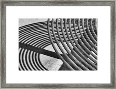 Framed Print featuring the photograph Circles And Shadows 1 by Nadalyn Larsen