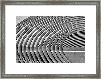 Framed Print featuring the photograph Circles And Shadows 2 by Nadalyn Larsen