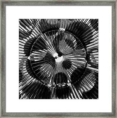 Framed Print featuring the photograph Circles And Spokes by Geraldine Alexander