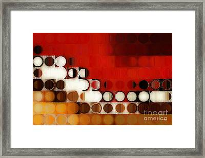 Circles And Squares 17. Modern Fine Art Framed Print by Mark Lawrence