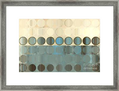 Circles And Squares 18. Modern Home Decor Art Framed Print by Mark Lawrence