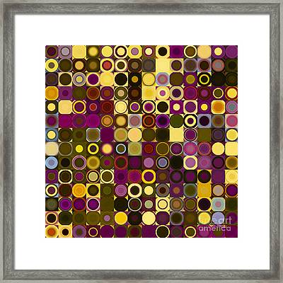 Circles And Squares 27. Modern Abstract Fine Art Framed Print by Mark Lawrence