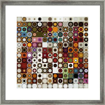 Circles And Squares 3. Modern Home Decor Art Framed Print by Mark Lawrence