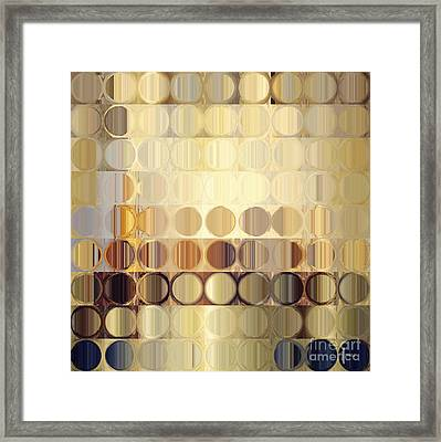 Circles And Squares 37. Modern Abstract Fine Art Framed Print by Mark Lawrence