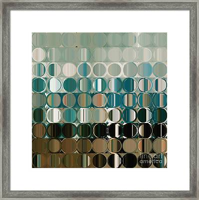 Circles And Squares 38 Framed Print by Mark Lawrence
