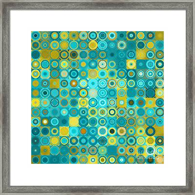 Circles And Squares 6. Modern Home Decor Art Framed Print