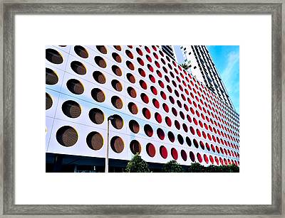 Circles Framed Print by Andres LaBrada