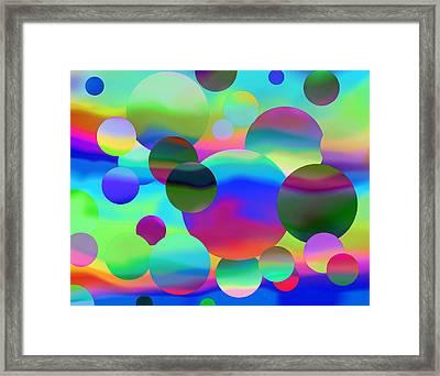 Framed Print featuring the digital art Circles by Elizabeth Budd