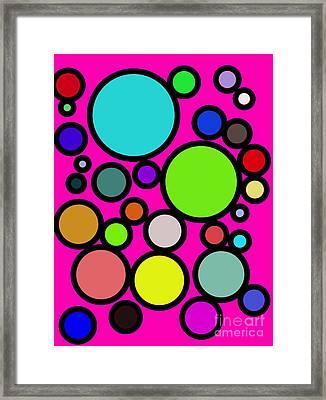 Circles Galore Framed Print