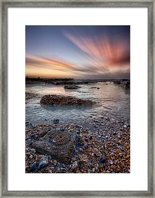 Circles In A Square Framed Print by Mark Leader