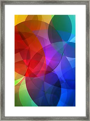 Circles In Colorful Abstract Framed Print by Design Turnpike