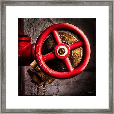 Circles In Square Framed Print by Bob Orsillo