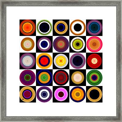 Circles In Squares Framed Print by Gary Grayson