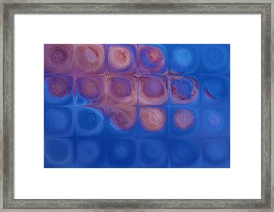 Circles In Squares Framed Print by Jack Zulli