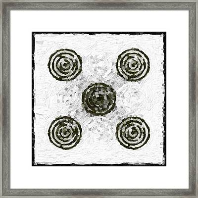 Circles In Various Patterns Framed Print by Tommytechno Sweden