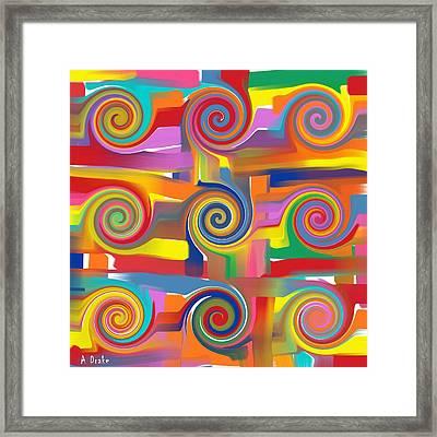 Circles Of Life Framed Print