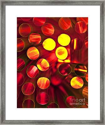 Circles Of Light Framed Print by Linda D Lester