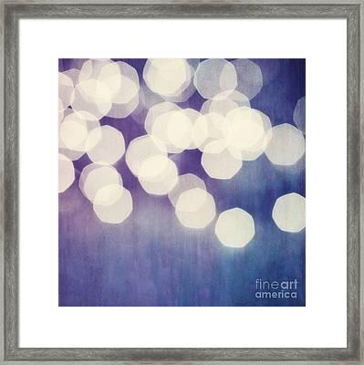 Circles Of Light Framed Print by Priska Wettstein