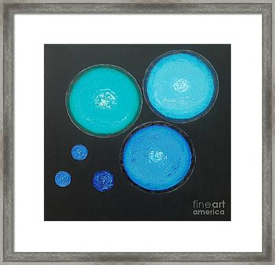 Framed Print featuring the painting Circles Of My Mind by Mini Arora