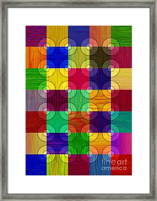 Circles Over Squares Framed Print by David K Small