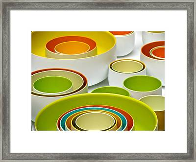 Framed Print featuring the photograph Circles Squared by Ira Shander
