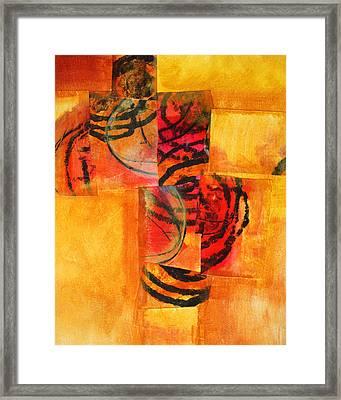 Circles Squared Framed Print by Nancy Merkle
